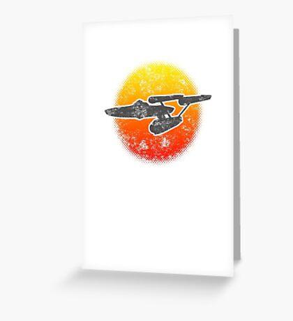 Constitution class Starship - light Greeting Card