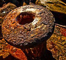Rusty Bollard 1 by Plonko