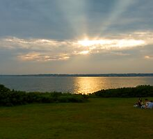 """Sunset at Beavertail"" - Conanicut Island Series - © 2009 by Jack McCabe"
