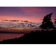 Sunset on Puget Sound Photographic Print