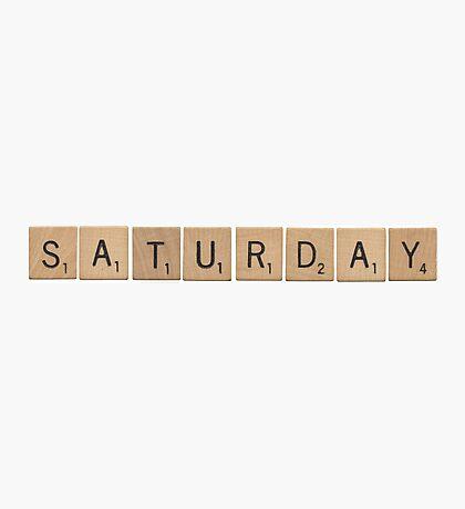Wood Scrabble Saturday! Photographic Print