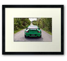 Going Green - Porsche Framed Print