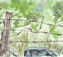 The fencepost by Maree  Clarkson