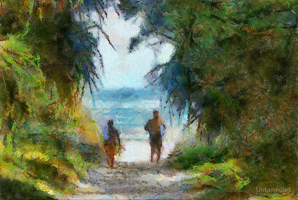 Beach lane, aorbdigitalmanipulation, summer, by Untamedart