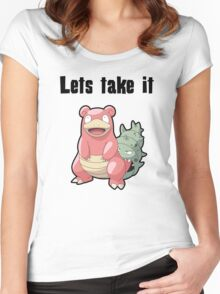 Let's take it SLOWBRO Women's Fitted Scoop T-Shirt