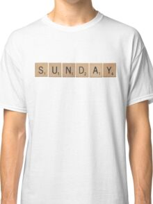 Wood Scrabble Sunday! Classic T-Shirt