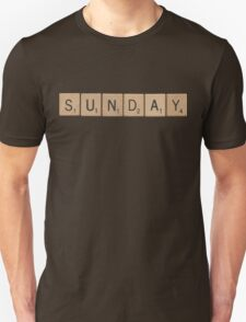Wood Scrabble Sunday! Unisex T-Shirt