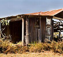 Old garage by Rodney Wratten