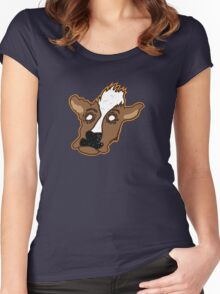 Cowering Cow Women's Fitted Scoop T-Shirt