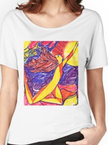 RED HAIR FLYING Women's Relaxed Fit T-Shirt