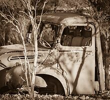 A Very Old Truck at Lightning Ridge by Clare Colins