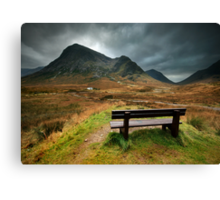 Scotland : A bench with a view Canvas Print