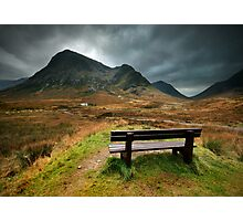 Scotland : A bench with a view Photographic Print