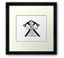 I AM THE NOOBIEST OF NOOBS  Framed Print