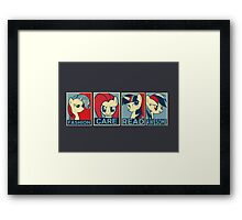 My Little Pony  presidential candidates Framed Print