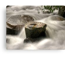 Rock vs water HDR Canvas Print