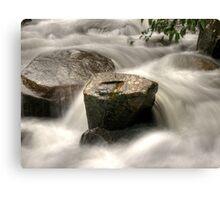 Rock vs water HDR Canvas Print