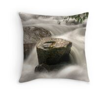 Rock vs water HDR Throw Pillow