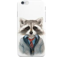 Raccoon in Sweater iPhone Case/Skin