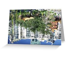 The city reflected Greeting Card