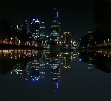 Melbourne City from the Yarra by Dean Woodyatt