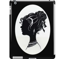 Vintage Fashion Silhouette, Old Fashioned Vanity , Beauty black white iPad Case/Skin