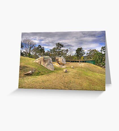 Granite Sculptures Greeting Card