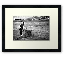 Beating the Nets - Fisherman in China Framed Print