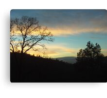 Sunset Silhouette In The San Bernardino Mountains Canvas Print