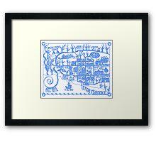 Storybrooke Map Framed Print