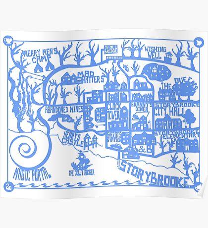 Storybrooke Map Poster