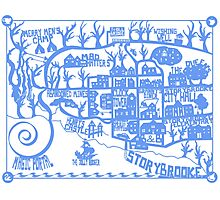 Storybrooke Map Photographic Print