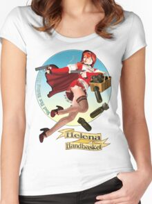 Helena Handbasket - Red Hot Riding Hood Women's Fitted Scoop T-Shirt