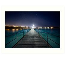 Port Noarlunga Jetty - After Dark Art Print