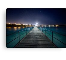 Port Noarlunga Jetty - After Dark Canvas Print