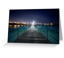 Port Noarlunga Jetty - After Dark Greeting Card
