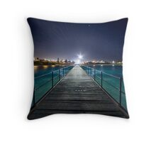 Port Noarlunga Jetty - After Dark Throw Pillow