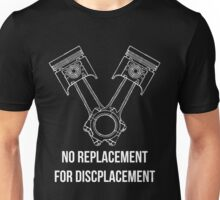 Piston 'V' Arrangement Decal (Black) Unisex T-Shirt