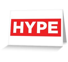 HYPE Red Greeting Card