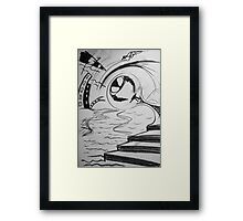 Painful contrasts Framed Print