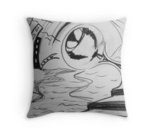 Painful contrasts Throw Pillow