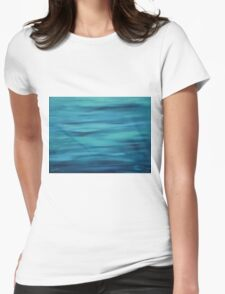 """""""Big Blue 2″ Womens Fitted T-Shirt"""
