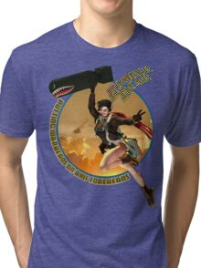 Bomber Dear - Putting Warheads on Axis Foreheads Tri-blend T-Shirt