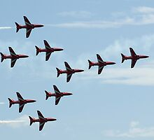 The Red Arrows - Concorde Formation by bubblebat