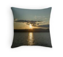 Sunset on Lake George Throw Pillow