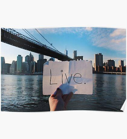 Live. Poster