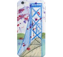 Bay Bridge - San Francisco - California - Watercolor painting lan iPhone Case/Skin