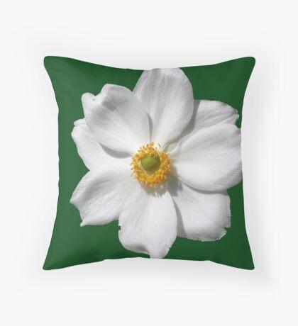 """Anemone x hybrida """"Honorine Jobert"""" Throw Pillow"""