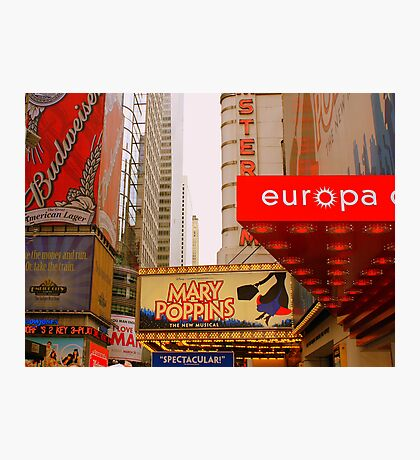 THE LIGHTS ARE BRIGHT ON BROADWAY. Photographic Print