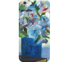 Flowers on a vase - Oil on Canvas painting  iPhone Case/Skin